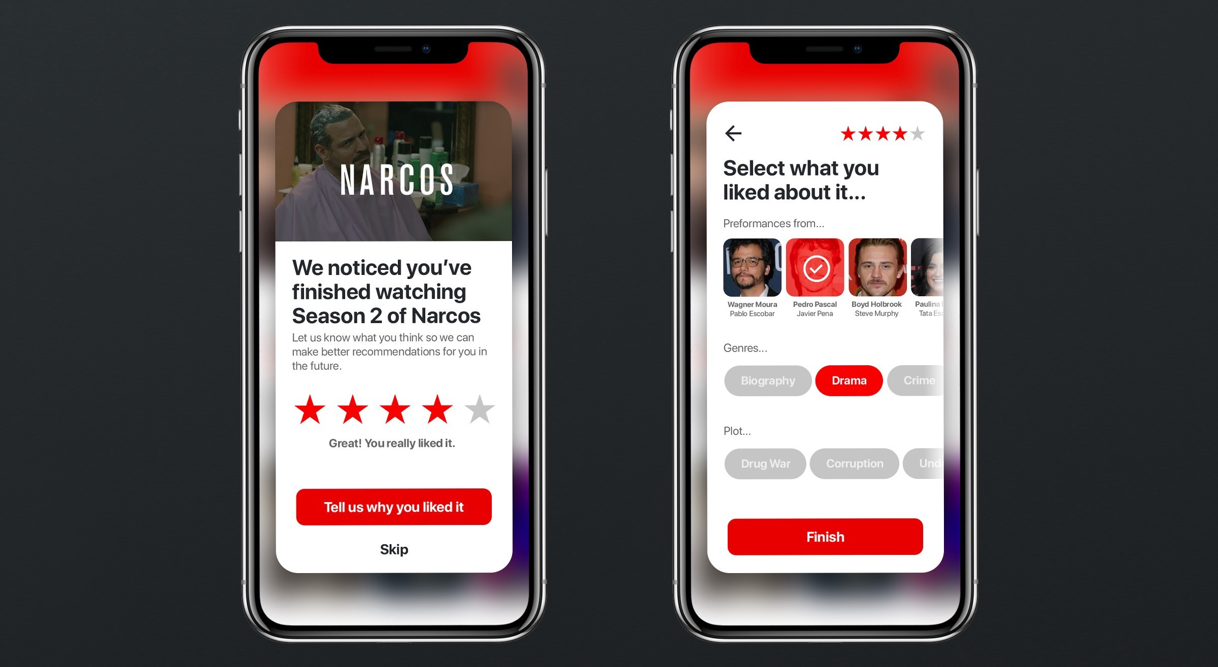 Narcos on Netflix - OTT platform