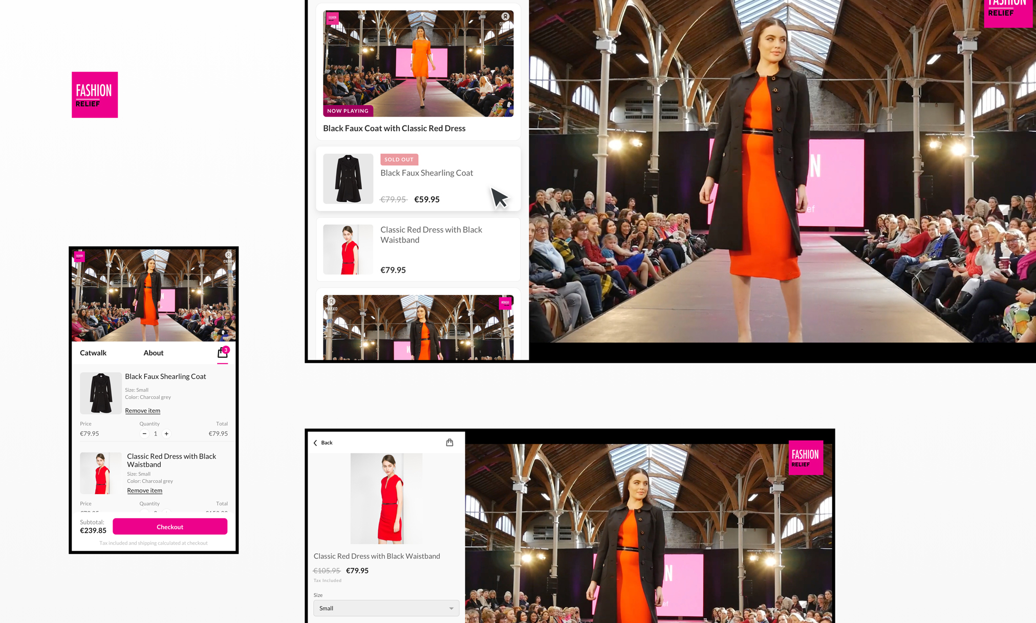 Fashion Relief TV - shoppable video