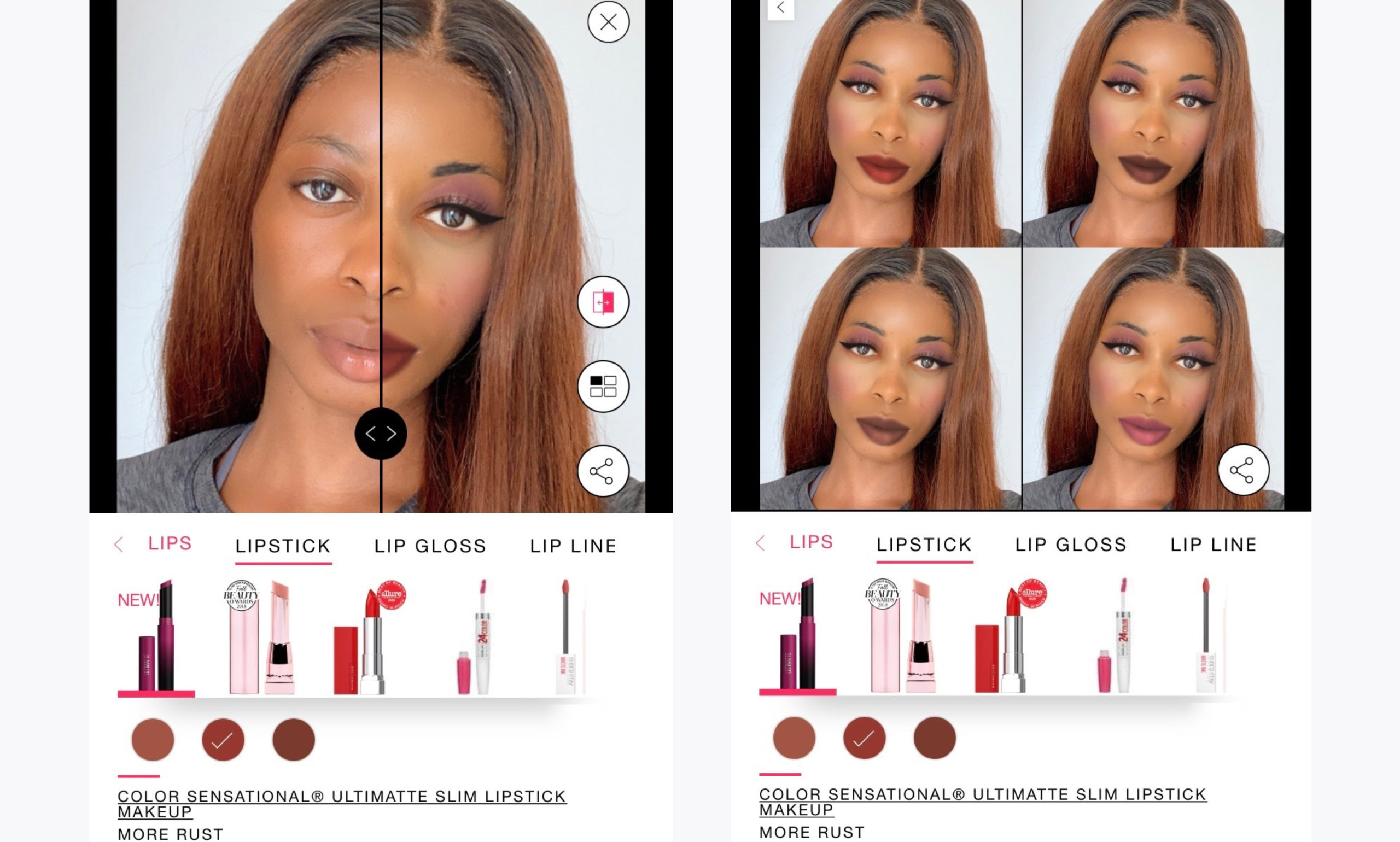 My Personalized Online Shopping Experience Maybelline Virtual Makeup Tryon